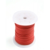 Cotton Wax Cord 3mm Flat Red